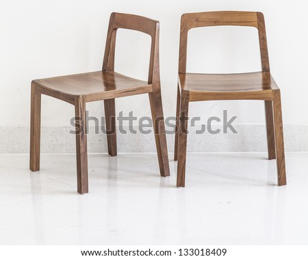 Simple wooden chair. - stock photo