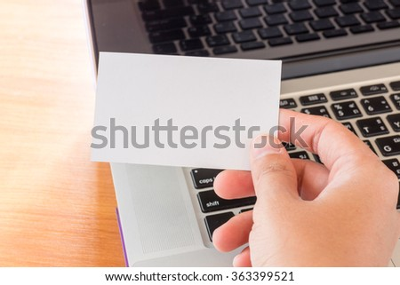 Simply freelance work table with laptop, stock photo