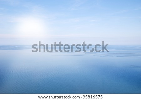 simply landscape with sea and sky - stock photo