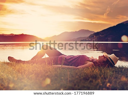 simply sleeping - stock photo
