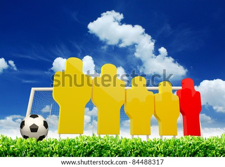 simulate player for soccer training/wall - stock photo