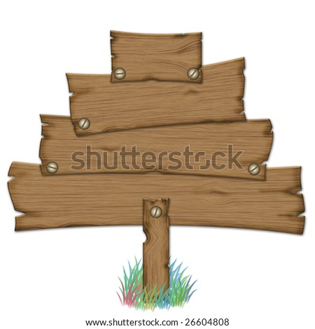simulated wood poster for a Christmas tree or a pine