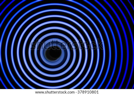 Simulation of gravitational waves discovered by scientists in 2016 - stock photo