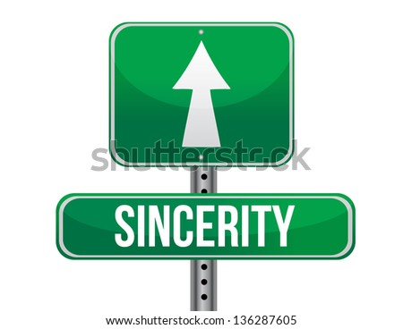 sincerity road sign illustration design over a white background