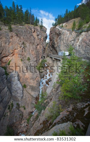 Sinclair Canyon at Radium Hotspring, British Columbia, Canada - stock photo