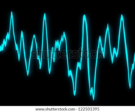 Sine Wave - stock photo