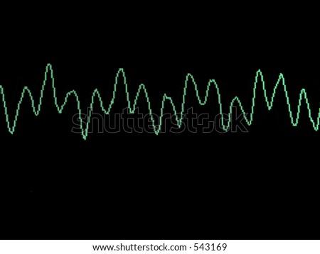 Sine Wave, Harmonics - stock photo