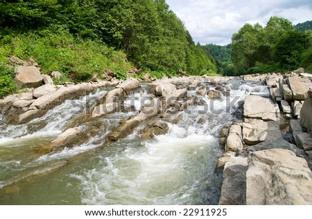 Sine Wiry reservation, Bieszczady, Poland - stock photo