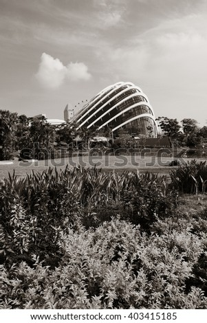 SINGAPORE - APR 5: Garden by the Bay on April 5, 2013 in Singapore. It is part of a government strategy aimed to raise the quality of life by enhancing greenery and flora in Singapore. - stock photo