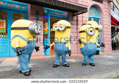 SINGAPORE - August 29 : Minion in Universal Studios Singapore on August 29, 2015 in Singapore - stock photo