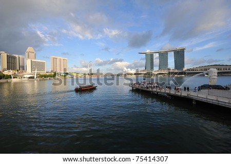 Singapore Business District skyline. - stock photo