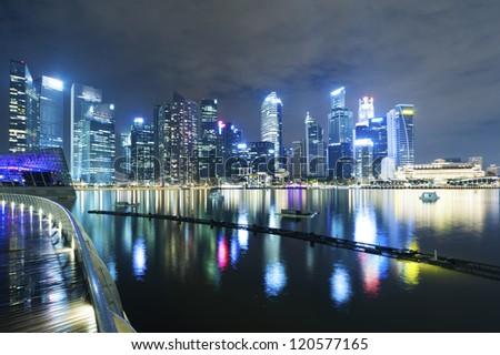 Singapore cityscape - stock photo