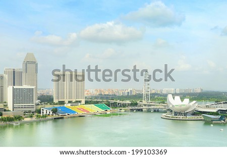 Singapore cityscape in the sunshine day - stock photo