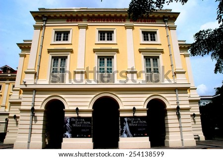 Singapore - December 11, 2007: The distinguished Asian Civilisations Museum in the historic Colonial District - stock photo