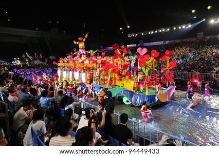 SINGAPORE - FEB 04 : chingay 2012 parade Singapore, celebrates Lunar New Year at pit building Feb 04, 2012 in Singapore. - stock photo