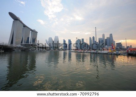 SINGAPORE - FEB 11 : River Hongbao 2011 opening night 25th anniversary, celebrates Lunar New Year at Marina Bay Feb 11, 2011 in Singapore. - stock photo