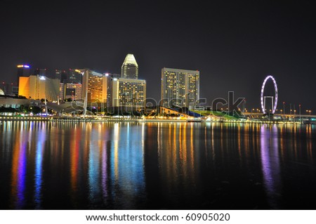 Singapore flyer - stock photo