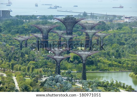 Singapore, Gardens by the Bay - stock photo