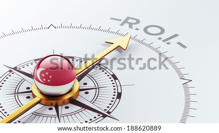 Singapore High Resolution ROI Concept - stock photo