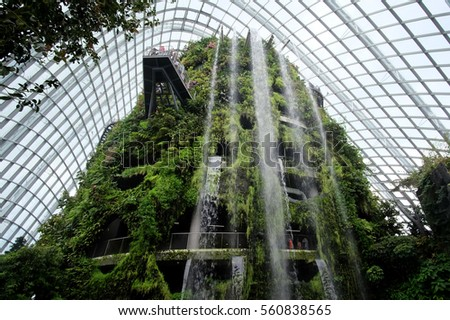 singapore jan 2016 winter garden in singapore was recognized as the best building