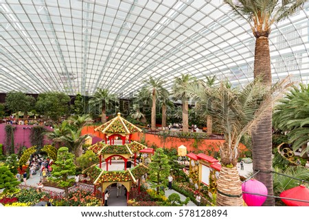 SINGAPORE   21 January, 2017 : Gardens By The Bay Flower Dorm , Gardens By