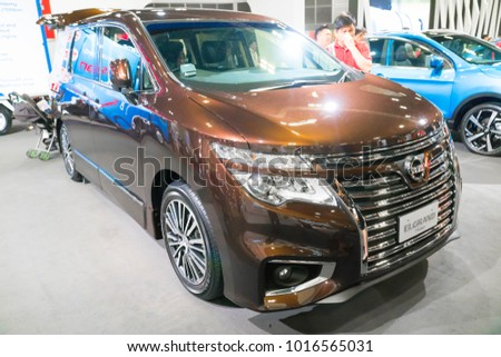 Singapore January 14 2018 Nissan Elgrand Stock Photo Royalty Free