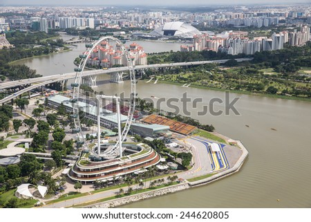 Singapore, January 6: View of the Singapore Flyer in Singapore on January 6, 2015.