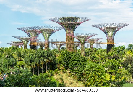 singapore july 16 2017 supertrees grove at gardens by the bay the - Garden By The Bay Mrt Station