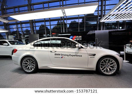 SINGAPORE - JUNE 07: BMW M3 safety car on display at BMW World on June 07, 2013 in Singapore - stock photo
