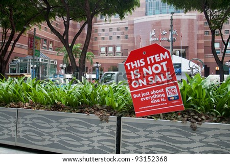 SINGAPORE - JUNE 26: The Great Singapore Sale poster in Orchard road, Singapore,June 26,2009. GSS is annual shopping event. It's organized by Singapore Tourism Board, stores & malls to promote tourism