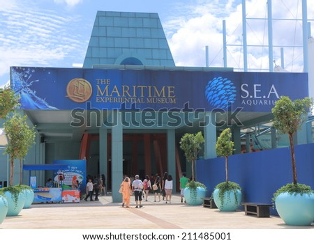 SINGAPORE - 28 May, 2014:Maritime Experiential Museum. Maritime Experiential Museum is a museum in Resorts World Sentosa built to house 60,000 artefacts.