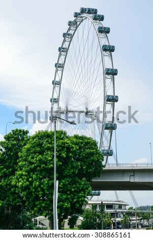 Singapore,May 30th , 2015 : View, buildings central business and landmarks of Singapore.  - stock photo