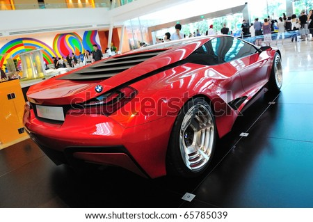 SINGAPORE - NOVEMBER 14: BMW M1 Hommage sports coupe at BMW World Singapore 2010 at Marina Bay Sands Expo November 14, 2010 in Singapore - stock photo