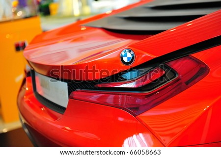 SINGAPORE - NOVEMBER 14: BMW M1 Hommage sports coupe at BMW World Singapore 2010 at Marina Bay Sands Expo November on 14, 2010 in Singapore - stock photo