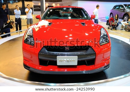 Wonderful SINGAPORE   OCTOBER 4: Nissan GTR Sports Car On Display During The Singapore  Motorshow On