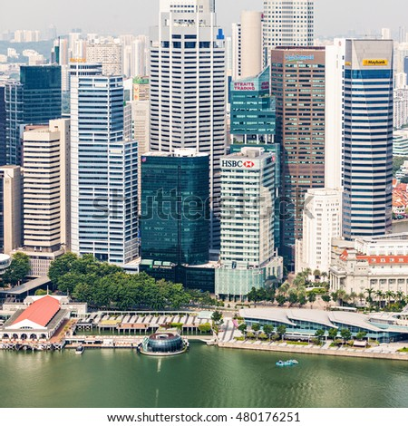 SINGAPORE - OCTOBER 18, 2014: Singapore city skyline.