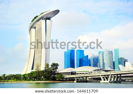 Singapore panorama.  Singapore has long been recognized as one of the best cities for business.