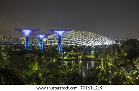 Garden By The Bay August 2017 super-dome stock images, royalty-free images & vectors   shutterstock