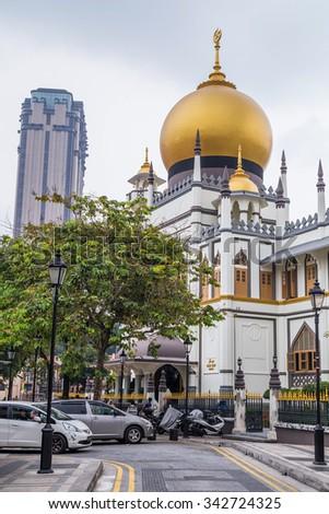 Singapore, Singapore - circa September 2015: Sultan Mosque in Singapore - stock photo