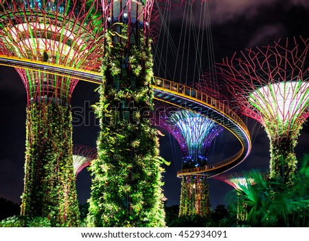 singapore singapore march 2 2016 supertrees grove in the gardens by the - Garden By The Bay Music