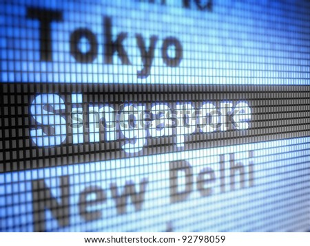 Singapore. World capitals  Full collection of icons like that is in my portfolio - stock photo