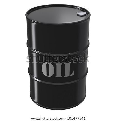 Singe black oil barrel as an icon of petroleum wealth - stock photo