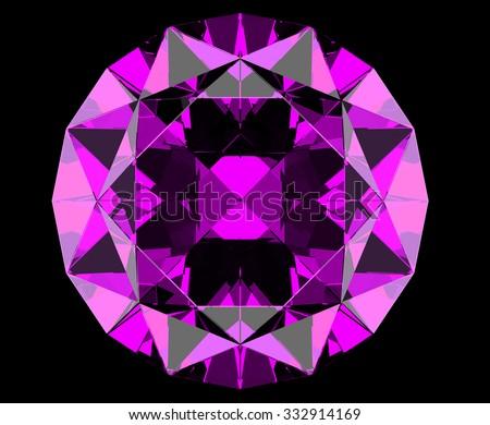 Singe purple crystal diamond.  - stock photo
