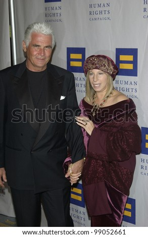 Singer/actress/director BARBRA STREISAND & husband actor JAMES BROLIN at the Human Rights Campaign Annual Gala at the Century City Hotel, Los Angeles, CA. March 6, 2004 - stock photo