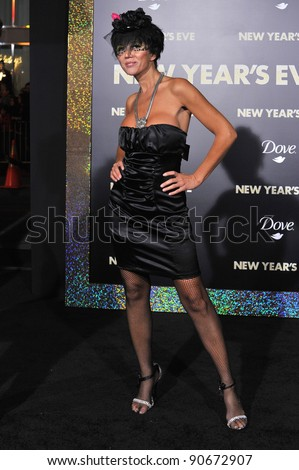 "Singer/actress Nadeea at the world premiere of ""New Year's Eve"" at Grauman's Chinese Theatre, Hollywood. December 5, 2011  Los Angeles, CA Picture: Paul Smith / Featureflash - stock photo"