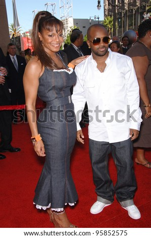 Singer JANET JACKSON & JERMAINE DUPREE at the 2006 ESPYS Sports Awards at the Kodak Theatre, Hollywood. July 12, 2006  Los Angeles, CA  2006 Paul Smith / Featureflash