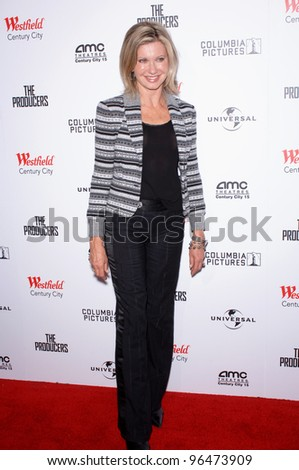 Singer OLIVIA NEWTON-JOHN at the world premiere, in Los Angeles, of The Producers. December 12, 2005 Los Angeles, CA.  2005 Paul Smith / Featureflash - stock photo
