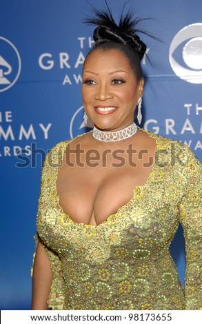 Singer PATTI LABELLE at the 2002 Grammy Awards in Los Angeles.