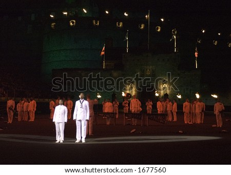 Singers of the South African Navy Band - stock photo
