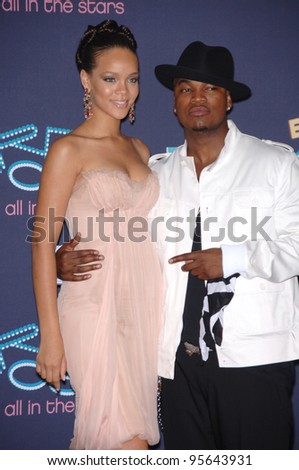 Singers RHIANNA & NE-YO at the 2006 BET Awards in Los Angeles.. June 27, 2006  Los Angeles, CA  2006 Paul Smith / Featureflash - stock photo